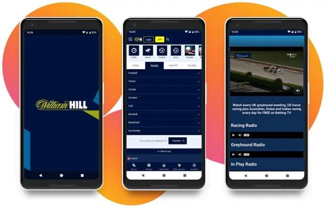 william hill in-play screenshots