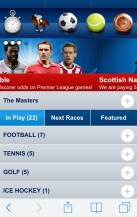 The Boylesports mobile app on an iPhone