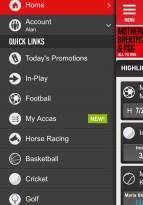 Snabblänkar för Ladbrokes app