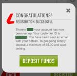 Registrering på Ladbrokes app