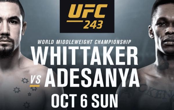 UFC 243 Odds