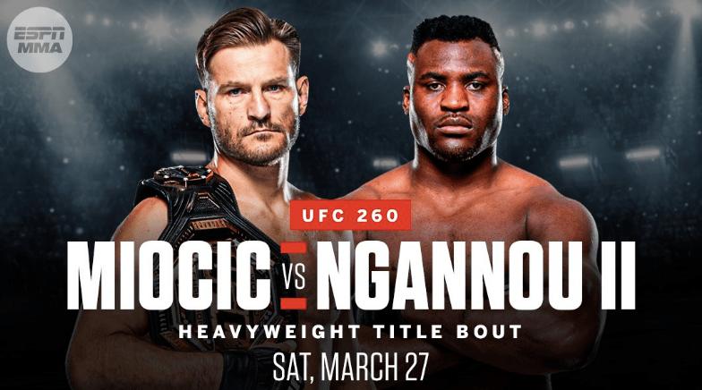UFC 260 - Miocic vs Ngannou 2 Odds