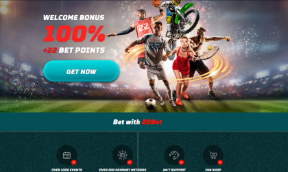 22bet sportsbook welcome bonus