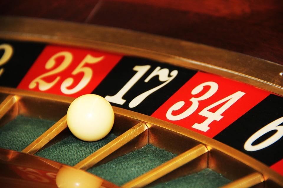 Black 17 on roulette wheel.