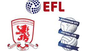 EFL Championship Middlesbrough vs Birmingham