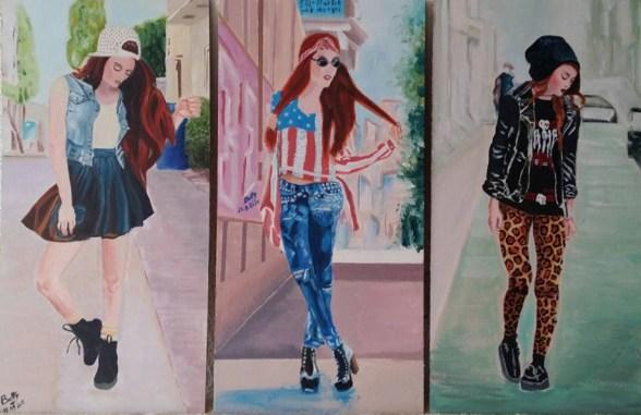 triptica de 3 chicas