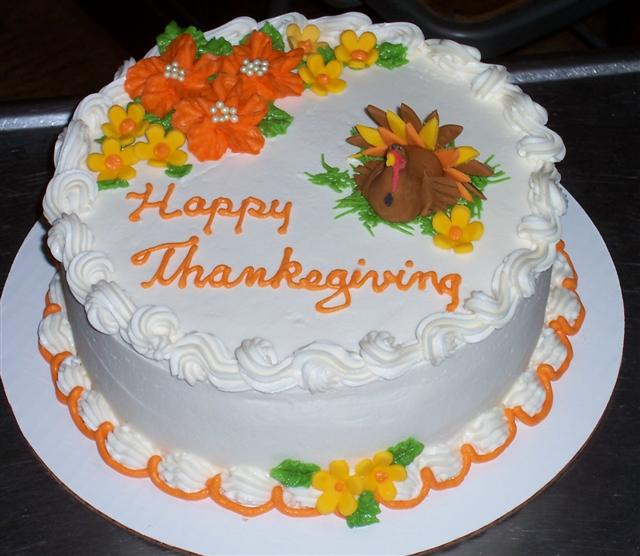 Thanksgiving Cakes   Birthdays   Bettycake s Photo s and More All the cakes but one that was chocolate were yellow butter cake with  vanilla butter cream  Decorations were a combo of butter cream flowers and  fondant