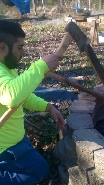 Hubby, the woodsman!