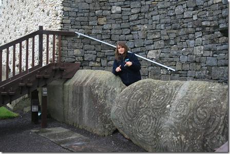 newgrange tour guide front stone