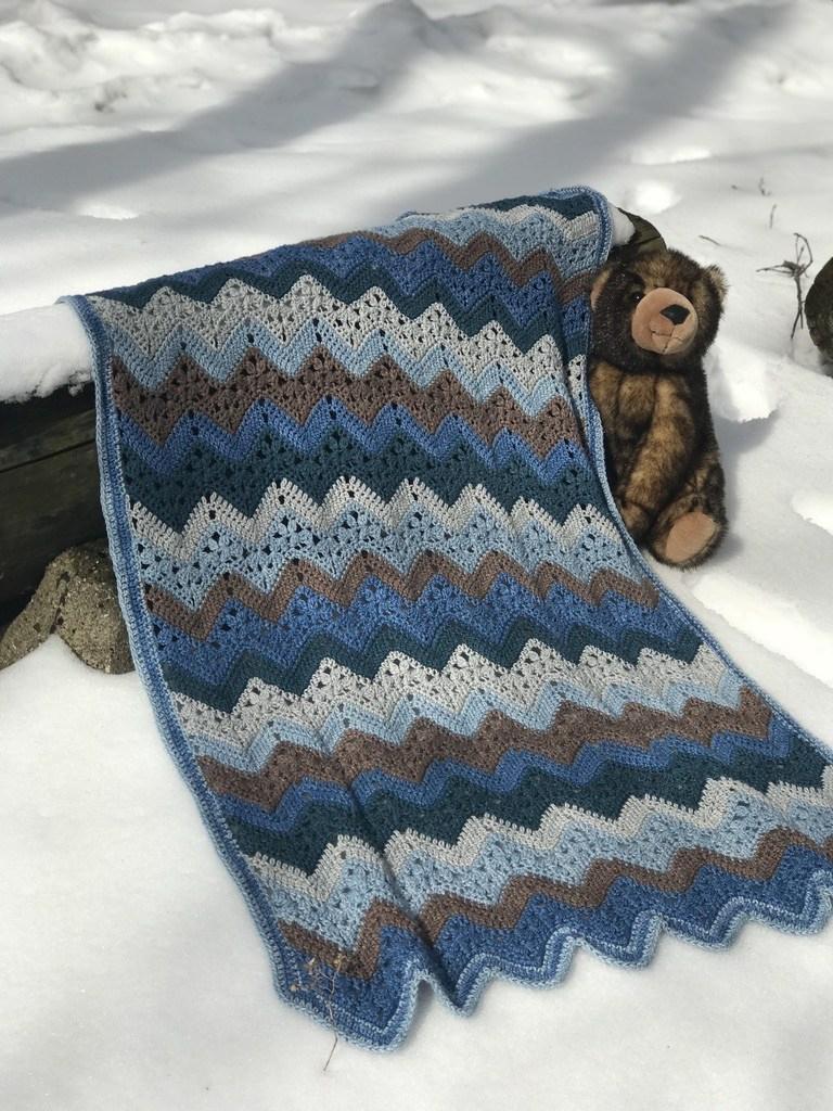 The 6 Day Baby Boy Blanket Betty Mcknit