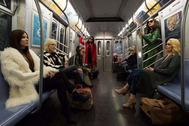 Первый кадр со съемок «Восьми подруг Оушена» в Нью-Йоркской подземке.