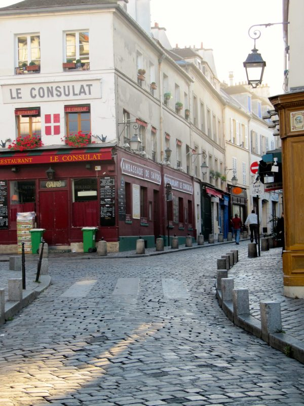 The charming Montmartre neighbourhood