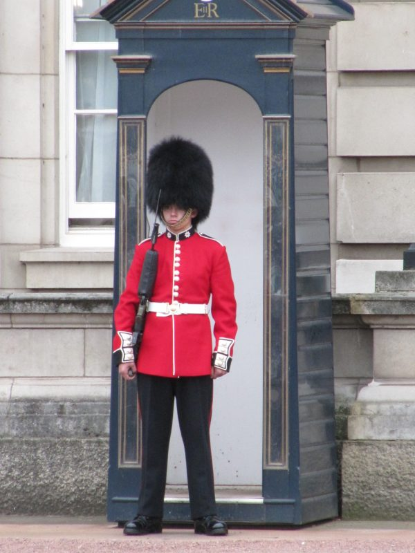 Coldstream Guard at Buckingham Palace.