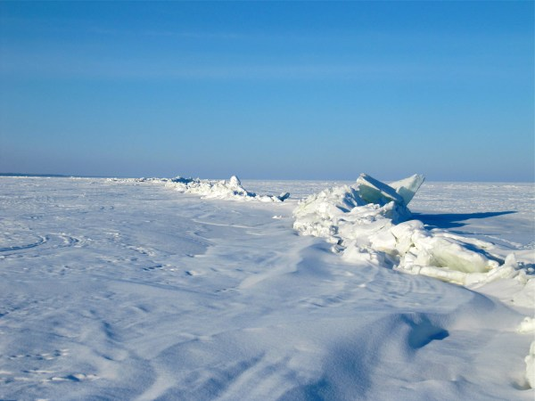 Broken ice on Lake Winnipeg.