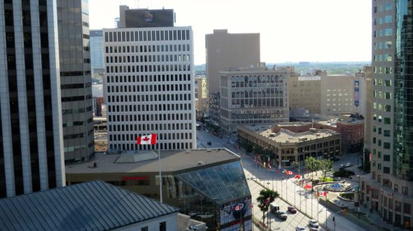 Downtown Winnipeg from the Fairmont's Gold Room