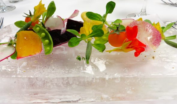 All salads should be served on a block of ice.