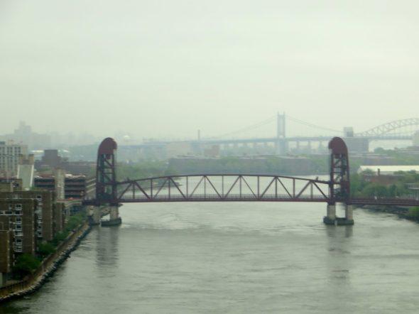 A foggy view from the Ed Koch Queensboro Bridge.