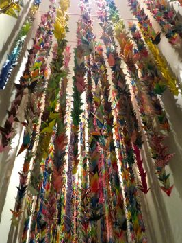 Japanese school children folded 1,000 of these origami cranes as a sign of peace.