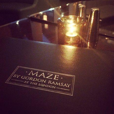 Enjoyed a night cap at Maze.
