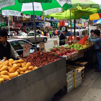 Chinatown produce stands.