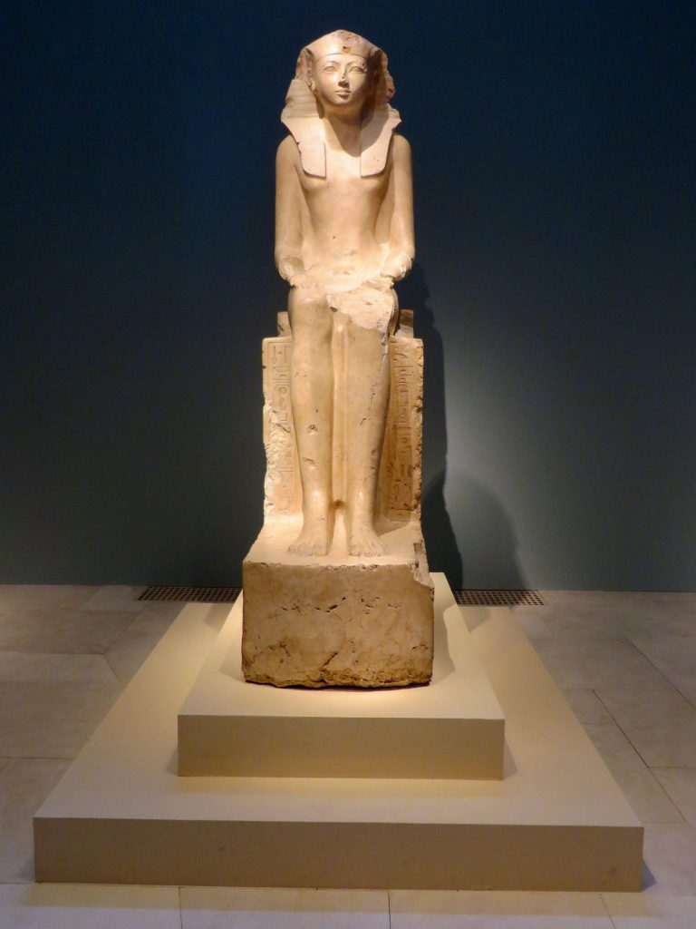Seated Statue of Hatshepsut, ca. 1479–1458 B.C., The Metropolitan Museum of Art.