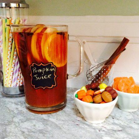 A fresh batch of pumpkin juice.
