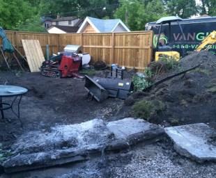 The yard reno