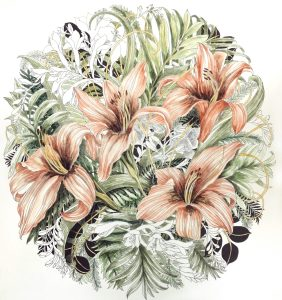 Tiger lilies in progress