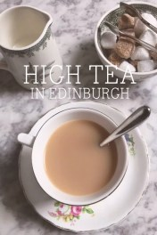High Tea at Edinburgh Castle, Scotland.