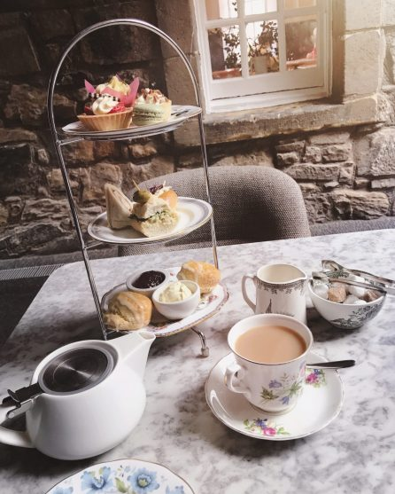 High Tea at Edinburgh Castle, Scotland