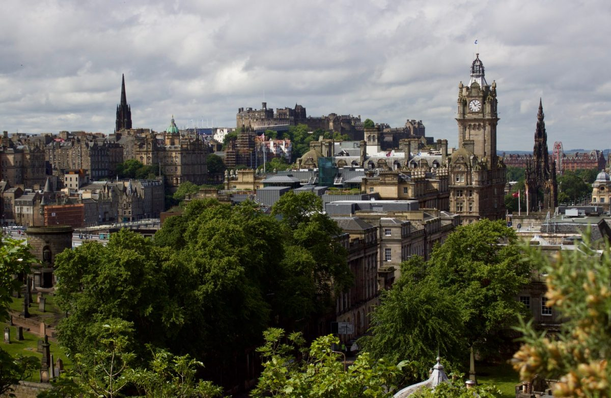 Starting the day off right with a great city view from atop Calton Hill. Edinburgh Photography Tour, Edinburgh, Scotland