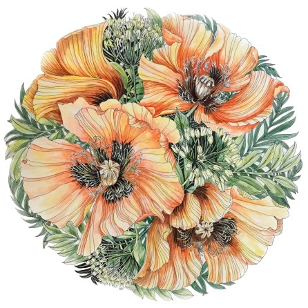 Leila Duly's Floribunda colouring book