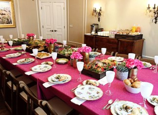 Chanukah Party Table Setting