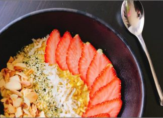 Enjoy a well rounded and vibrant breakfast in one bowl with these Golden Chai Overnight Oats By Danielle Renov of @peaslovencarrots