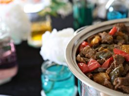 How to Make Kosher Pepper Steak Like the Caterer. Serving a crowd buffet-style? This pepper steak dish is intended to be prepped ahead and rewarmed!