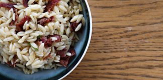 Knock, Knock. Your Purim Seudah Side Dish is Here. Want to wake up your rice? I have the answer. Candied Beef Bacon Orzo