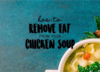 How to remove fat from your chicken soup. Here 's a simple ziploc bag hack to use in order to skim your soup and remove the fat.