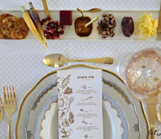 This is Just What Your Rosh Hashanah Table Needs (Plus! Free Simanim Cards!) We've got the perfect way to serve the simanim and a beautiful simanim card download!