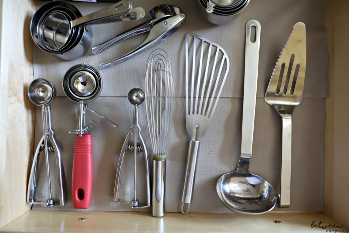 The Secret to Keeping Your Kitchen Drawers Neat. Tired of everything flying around from place to place? With drawer liners, your utensils stay where you put 'em.