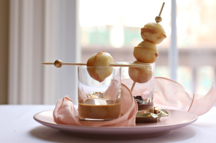 waffle dessert. donut holes hack.