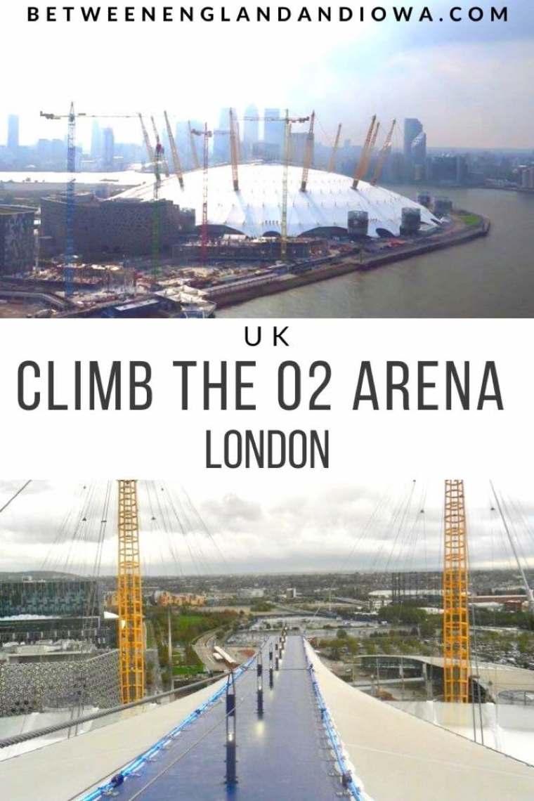 Climb the O2 Arena in London UK