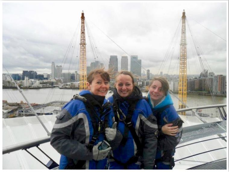 Climb the O2 on the roof of the O2 Arena in London