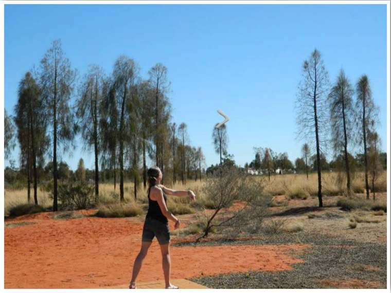 Uluru Resort Cultural Experiences. Boomerang Throwing Lessons