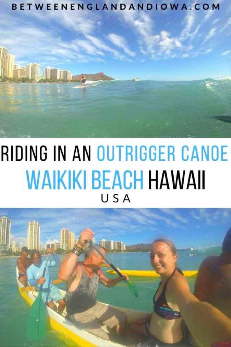 Outrigger Canoe Waikiki Beach Hawaii