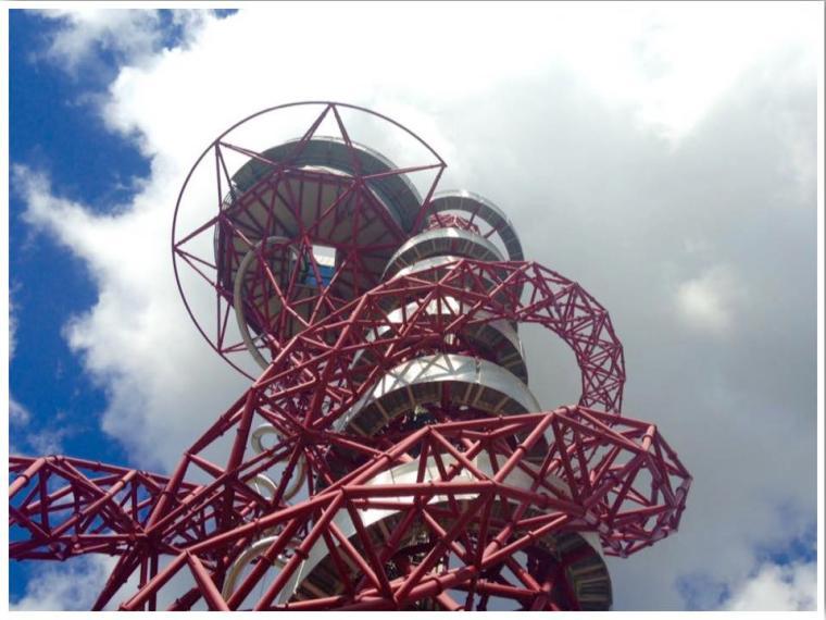 Orbit Tower Tube Slide in London UK