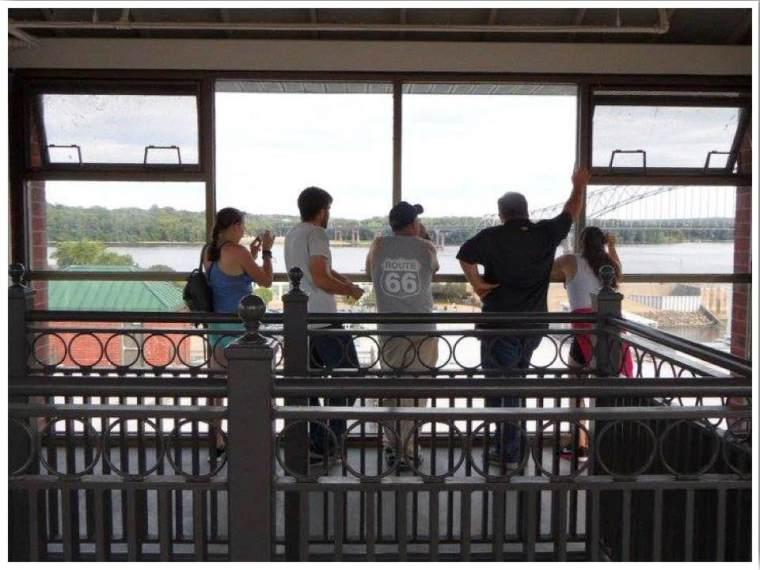 Dubuque River Museum Observation Deck Iowa