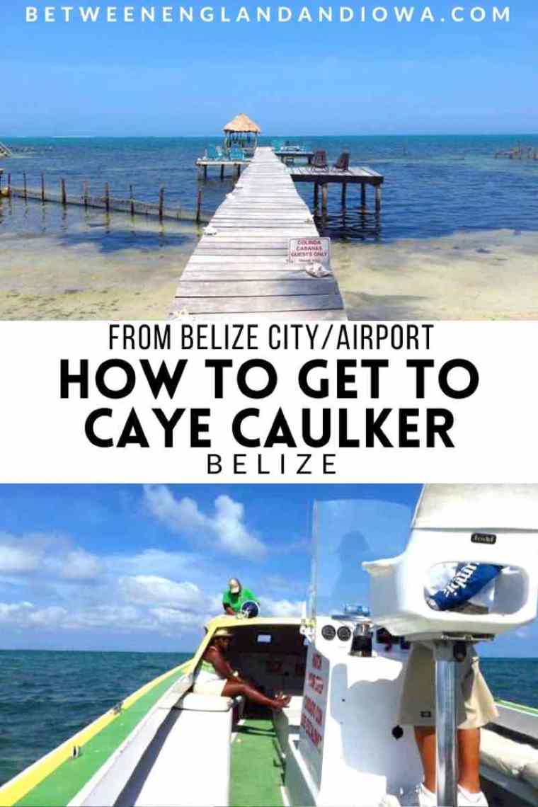 How to get to Caye Caulker from Belize City Airport