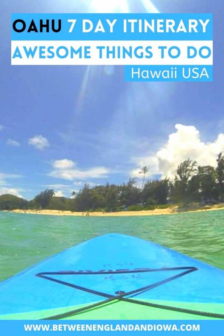 Oahu 7 Day Itinerary. One week in Oahu Hawaii