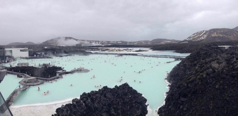 Blue Lagoon Iceland in April
