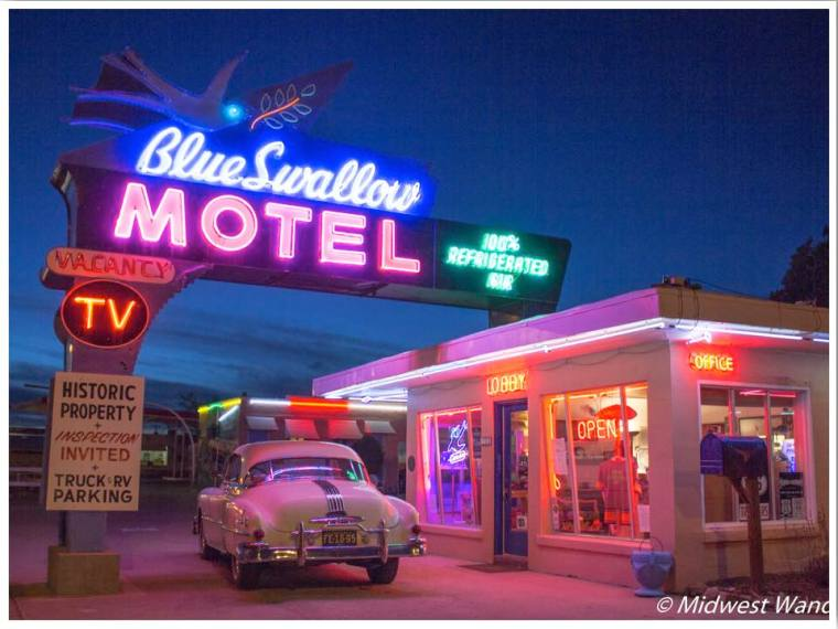 Blue Swallow Motel Route 66 Connie